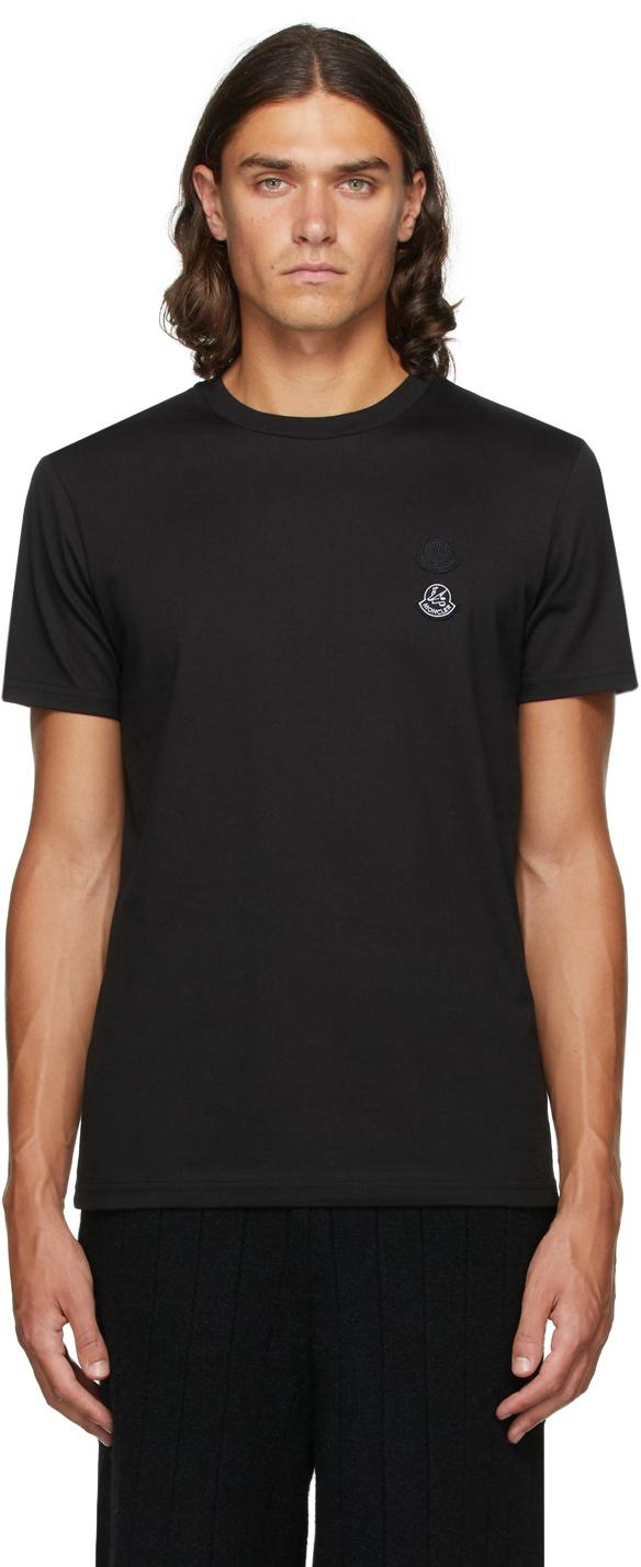 2 Moncler 1952 Black Double Logo T-Shirt
