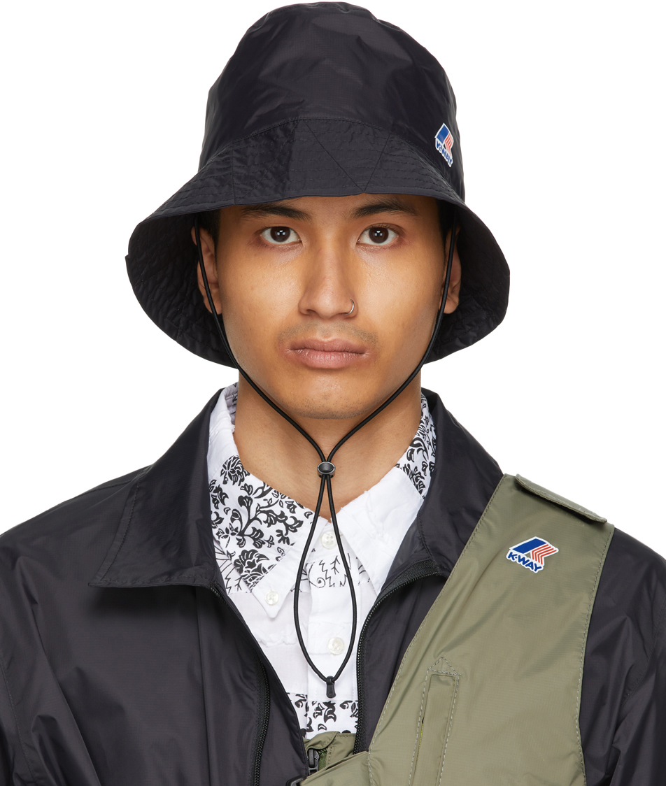 Black K-Way Edition Pascalen 3.0 Bucket Hat