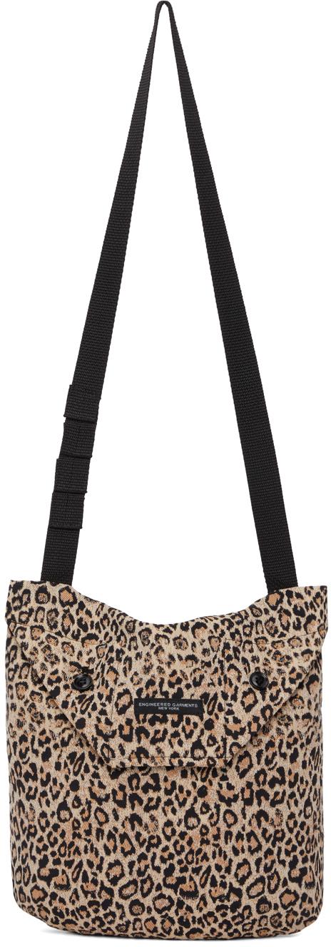 Black & Beige Leopard Messenger Bag