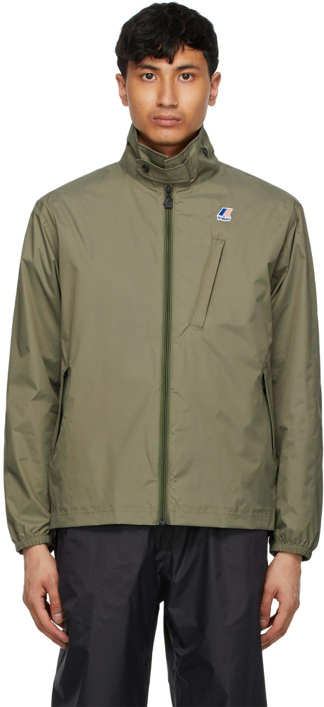 Khaki K-Way Edition Packable Crepin 3.0 Jacket