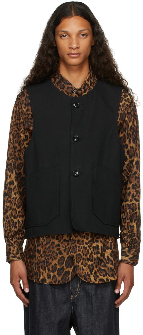Reversible Black Ripstop & Fleece Vest