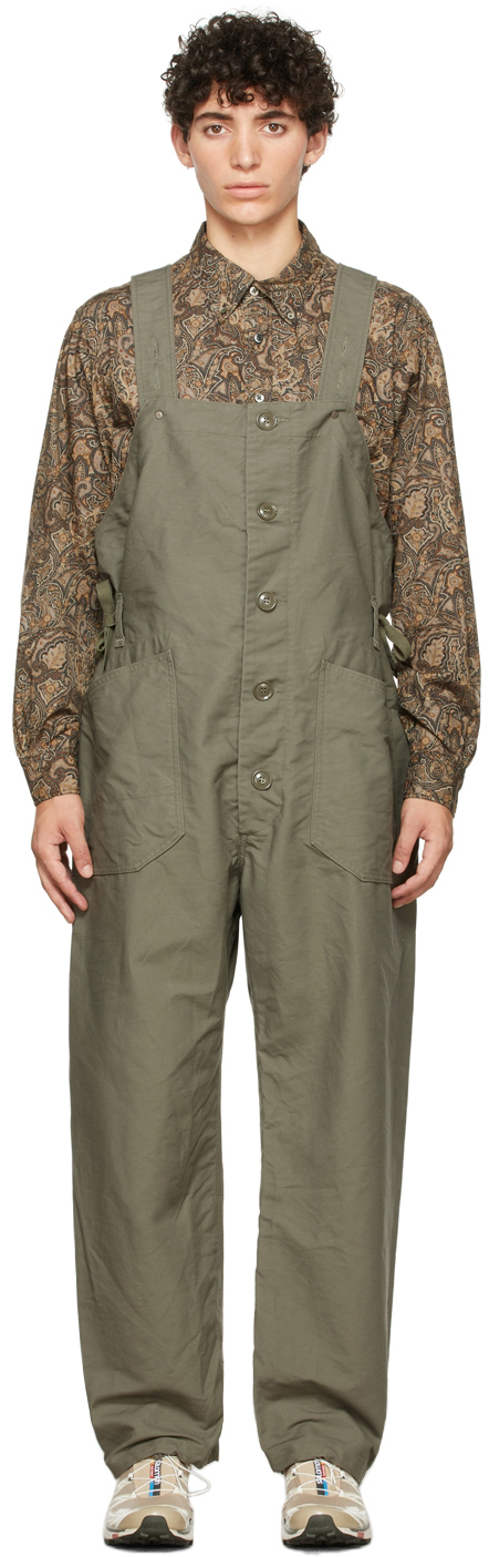 Green Cotton Waders Jumpsuit