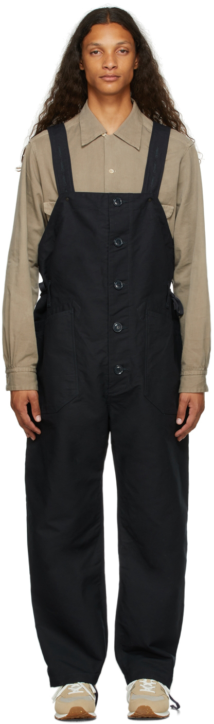 Navy Cotton Waders Jumpsuit