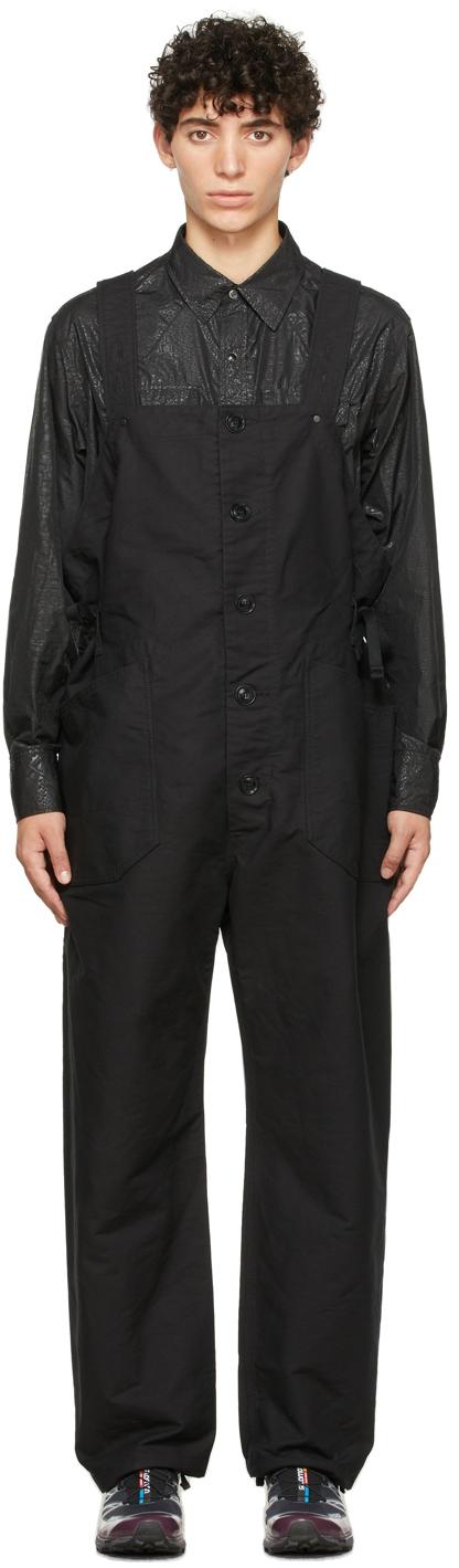 Black Cotton Waders Jumpsuit