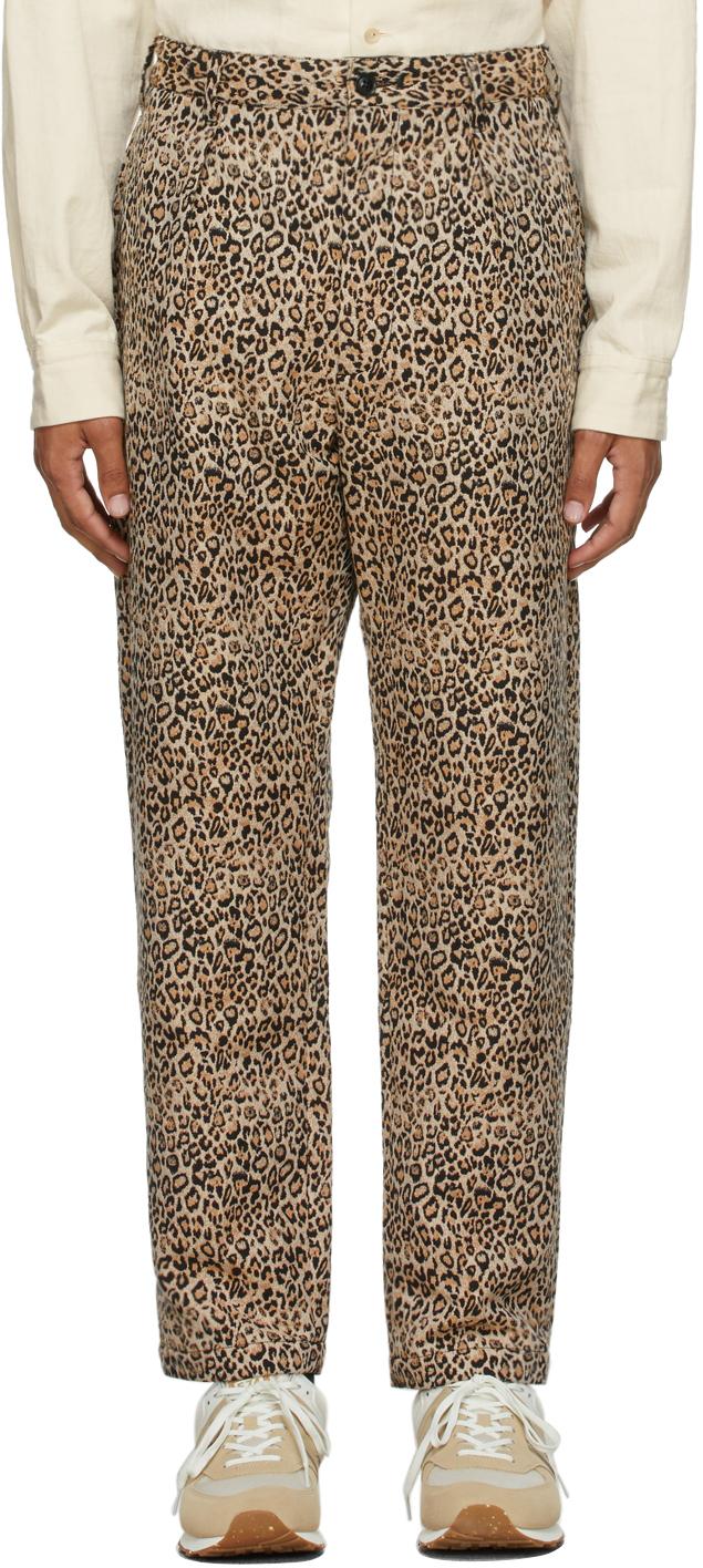 Black & Beige Leopard Carlyle Trousers