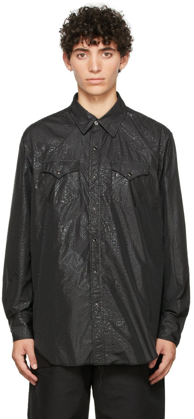 Black Alligator Western Shirt