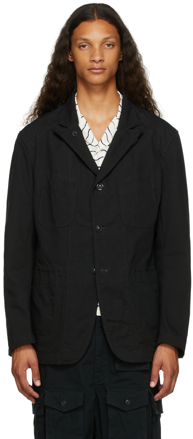 Black Ripstop Bedford Jacket