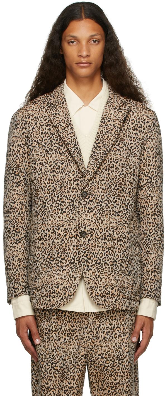 Beige & Black Leopard NB Blazer