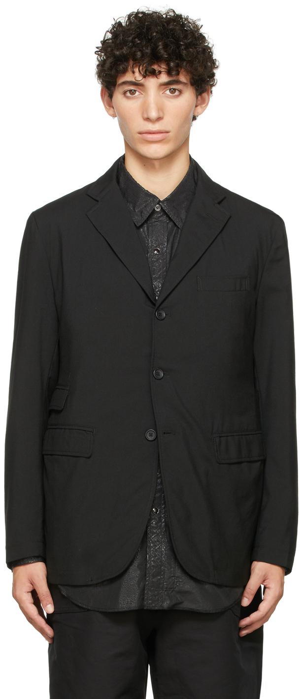 Black Wool Lawrence Blazer
