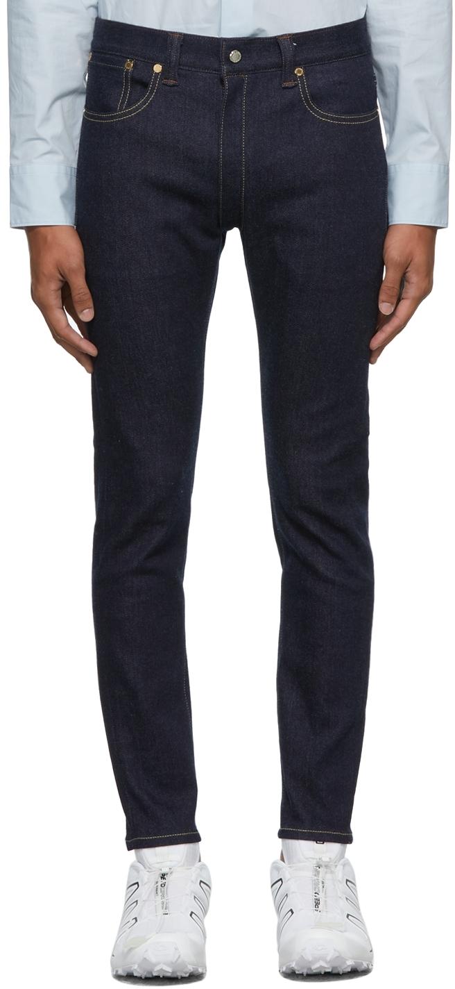 Blue 5 Pockets Separate Skinny Jeans