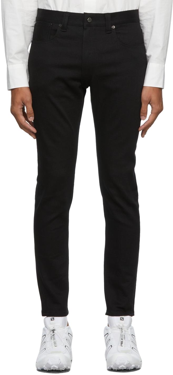Black Five-Pocket Skinny Jeans