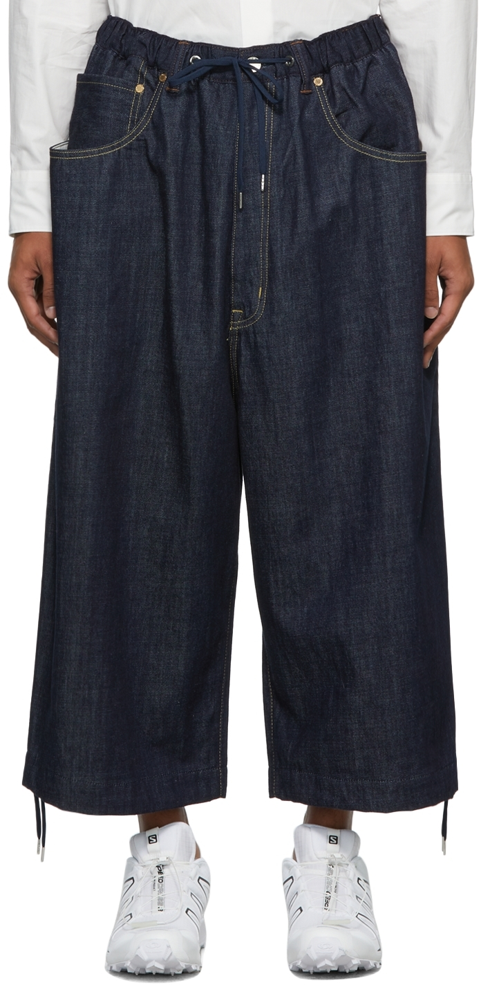 Indigo Five-Pocket Parkour Jeans