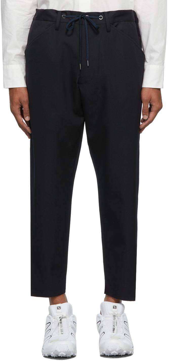 Navy Kurta Trousers