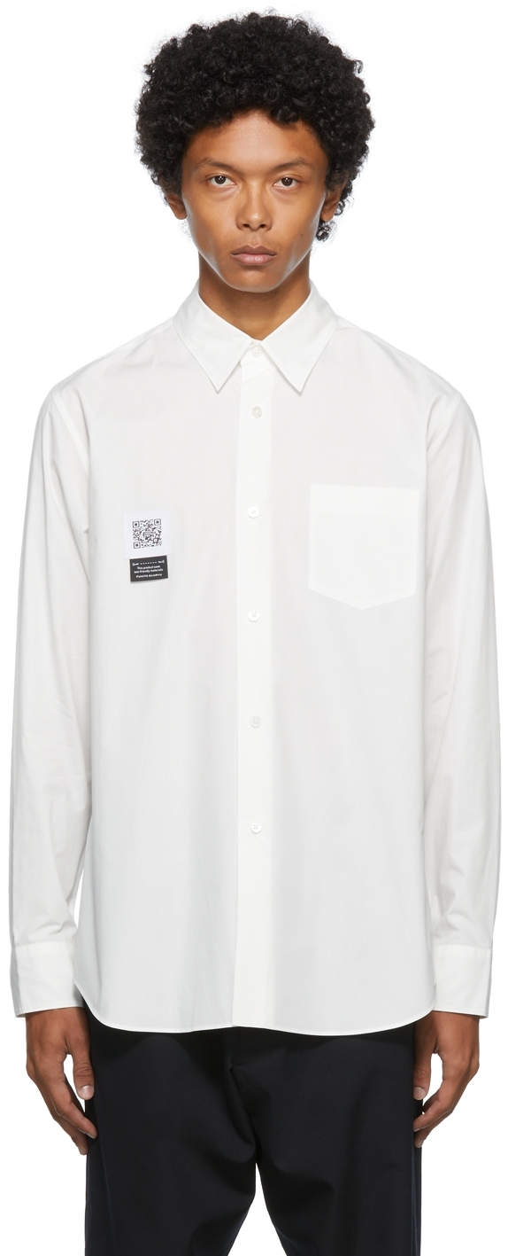 Off-White Pleated Shirt