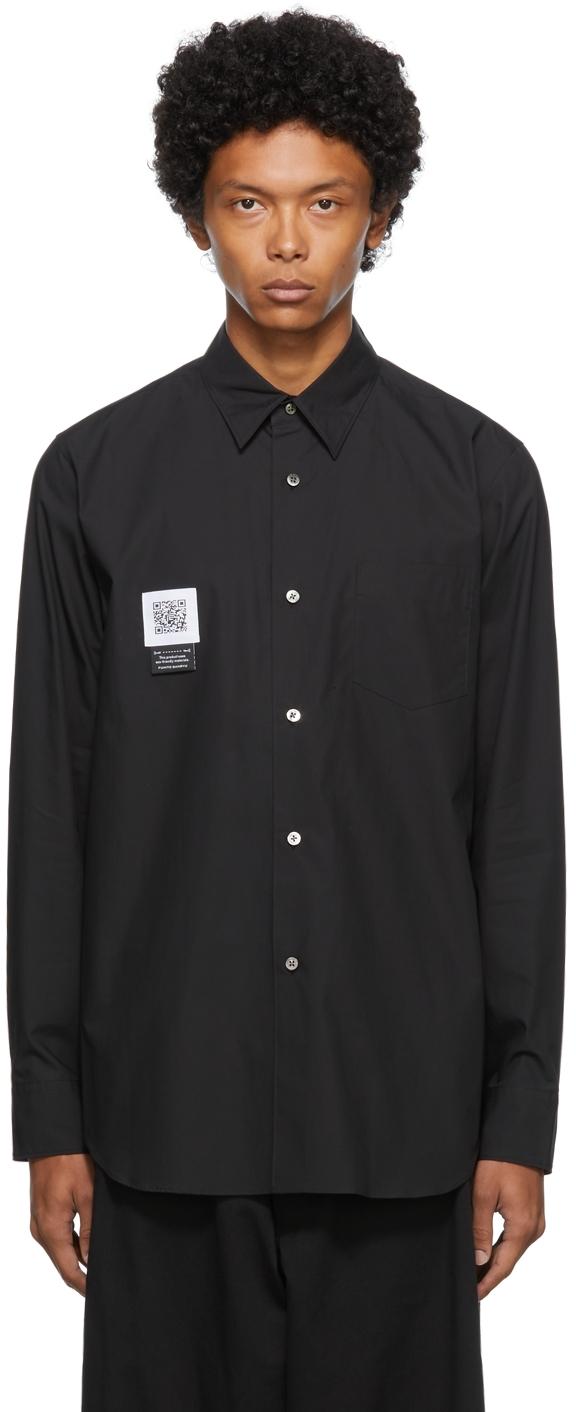 Black Pleated Shirt
