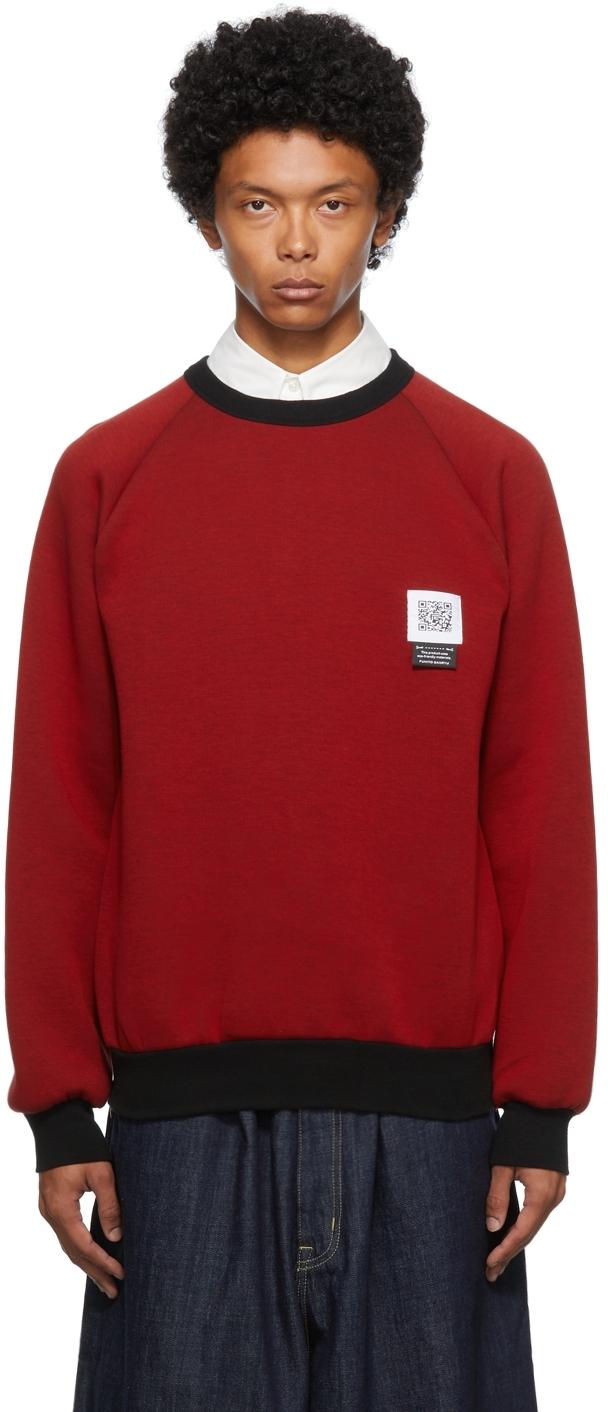 Red Side Zip Sweatshirt