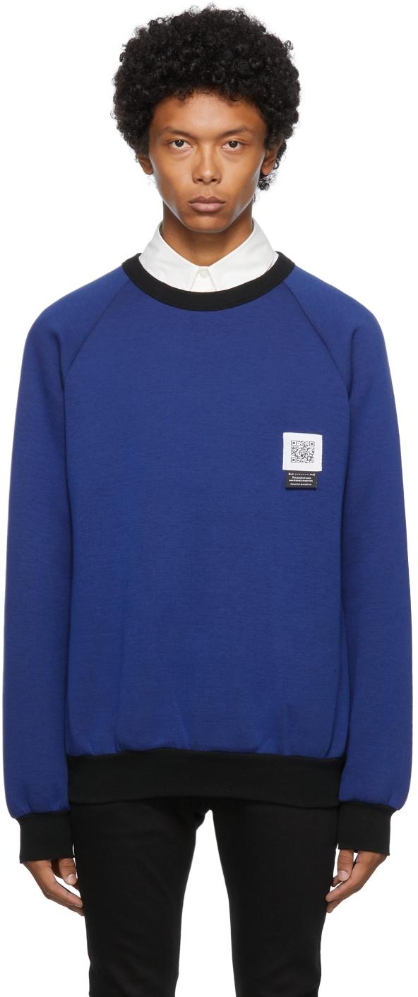 Blue Side Zip Sweatshirt