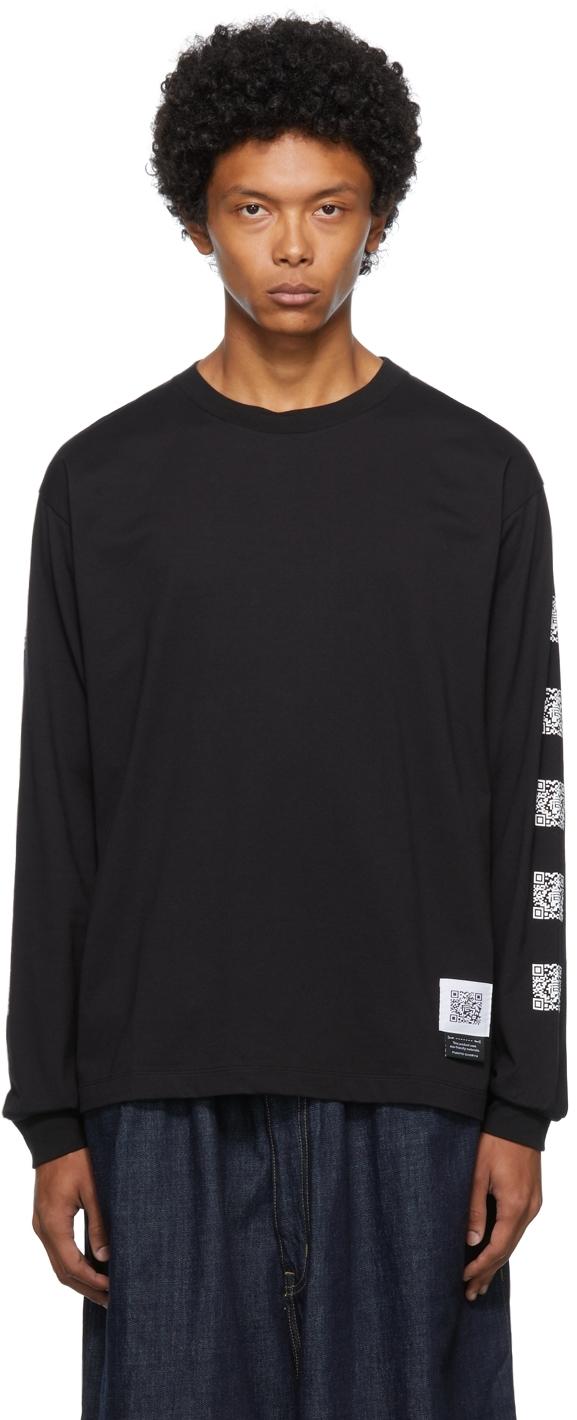 Black Graphic Print Long Sleeve T-Shirt