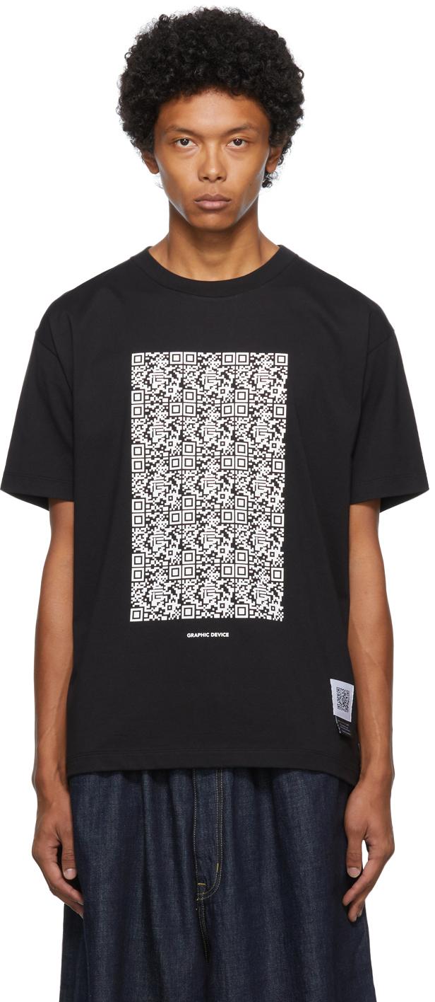 Black Graphic Print T-Shirt