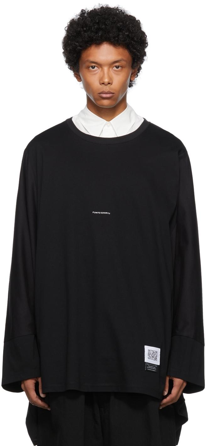 Black King Size Rebuilt Long Sleeve T-Shirt