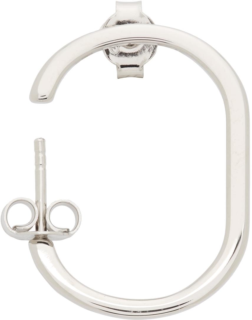 Silver Alphabet 'O' Single Earring