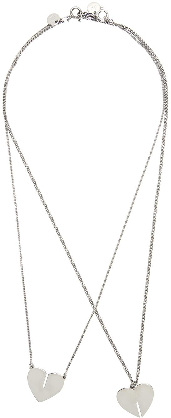 Silver Best Friends Necklace