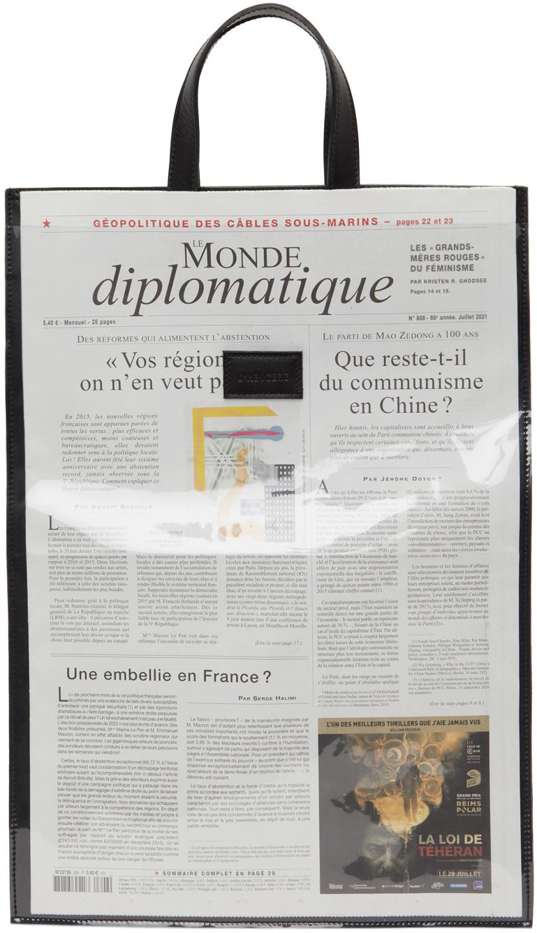 Black Newspaper Tote