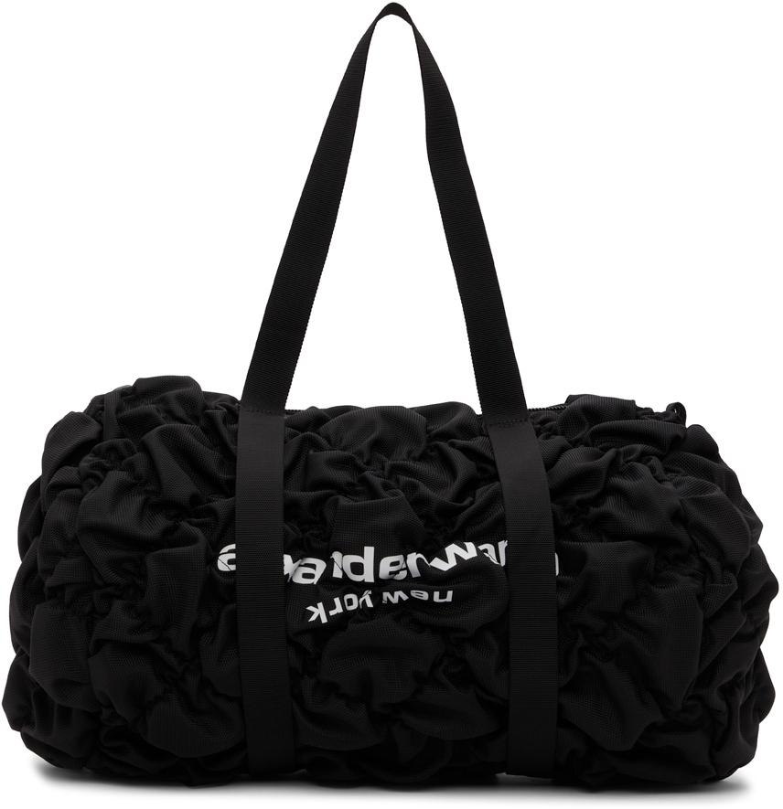 Alexander Wang Black Ruched Rebound Duffle Bag