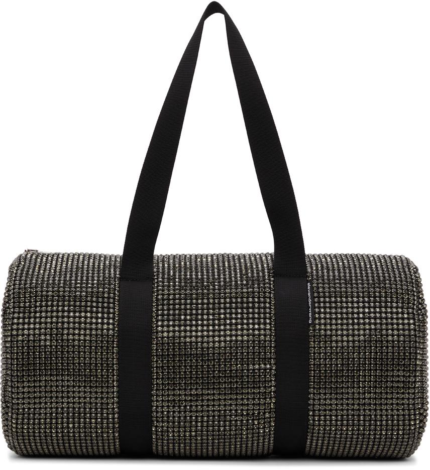 Alexander Wang Black Crystal Cruiser Duffle Bag