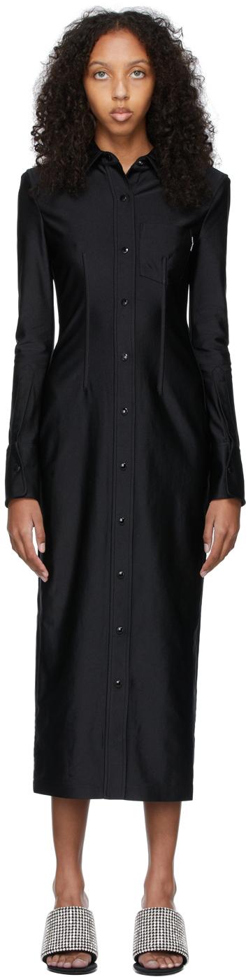 Alexander Wang Black Fitted Shirt Dress
