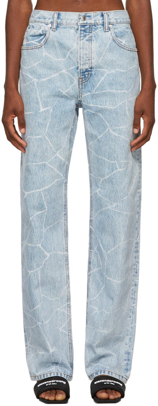 Alexander Wang Blue Bleached Skater Jeans