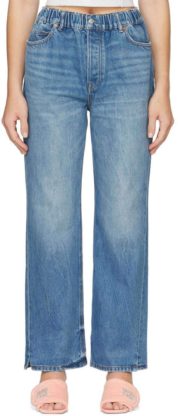 Alexander Wang Oversized Elastic Waistband Jeans