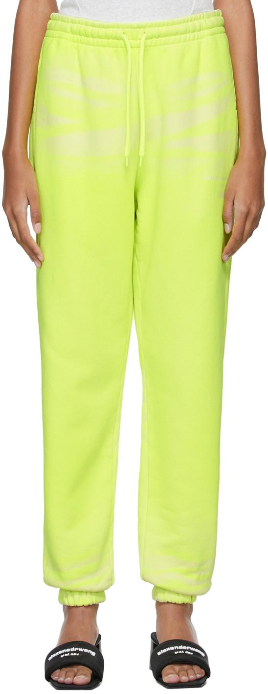 Alexander Wang Yellow Garment-Dyed Jogger Lounge Pants