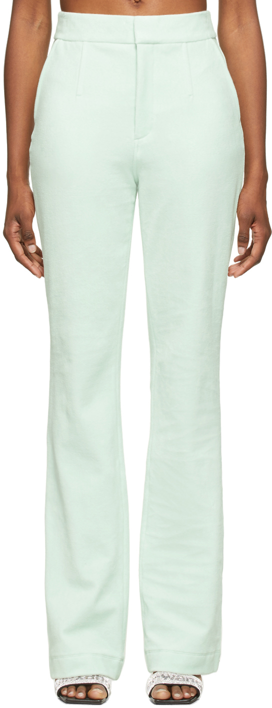 Alexander Wang Green Velour Bodycon Trousers