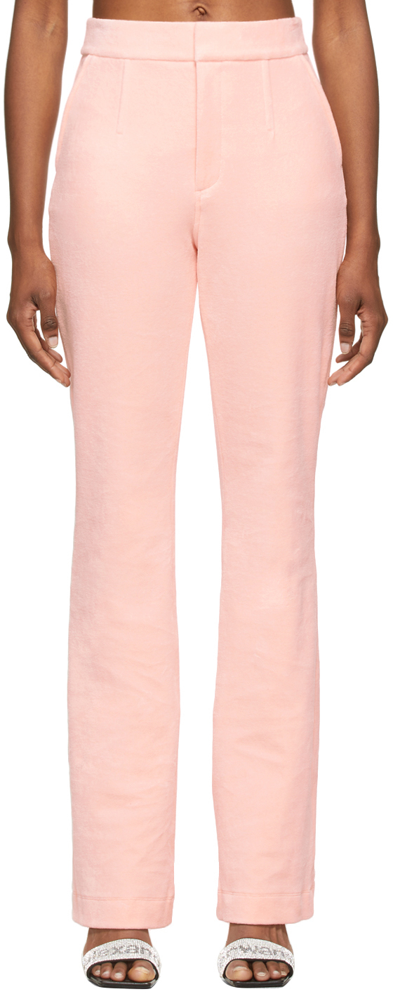Alexander Wang Pink Velour Bodycon Trousers