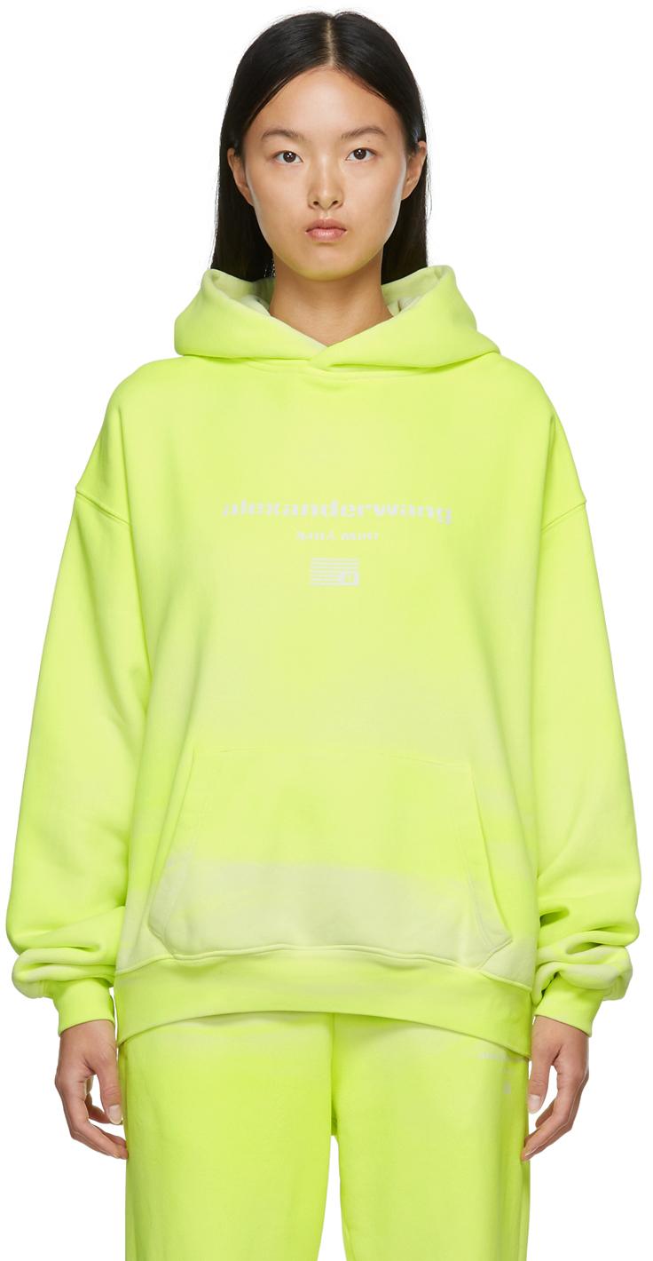 Alexander Wang Yellow Garment Dyed Hoodie