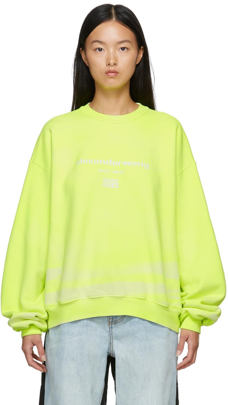 Alexander Wang Yellow Garment Dyed Sweatshirt