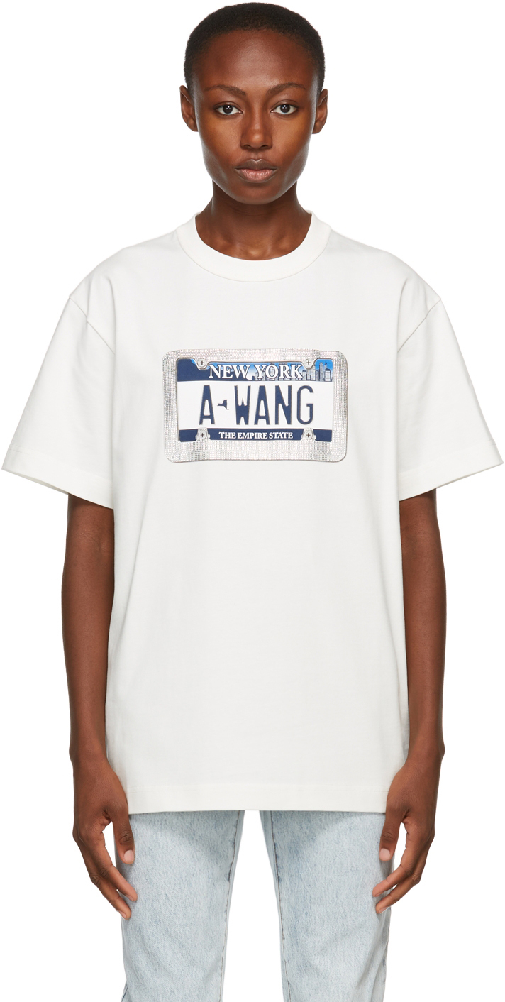Alexander Wang White License Plate T-Shirt