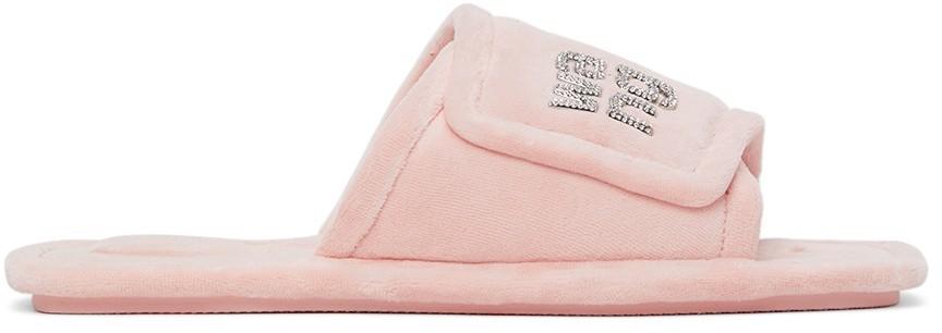 Alexander Wang Pink Velour Lana Sandals