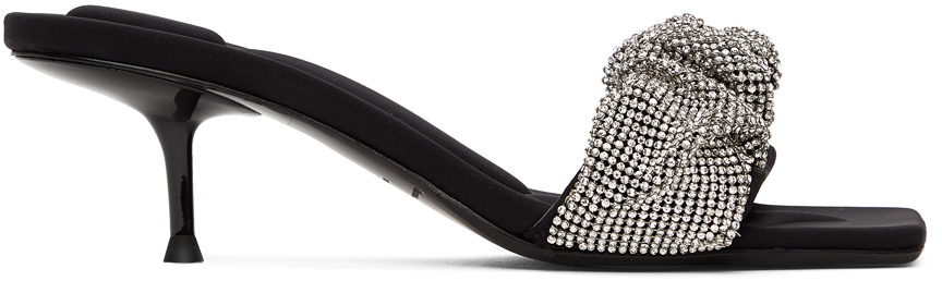 Alexander Wang Black Scrunchie Jessie Heeled Sandals