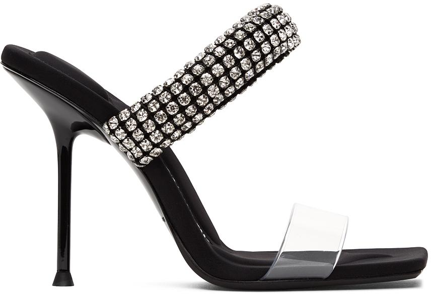 Alexander Wang Black PVC Julie Heeled Sandals