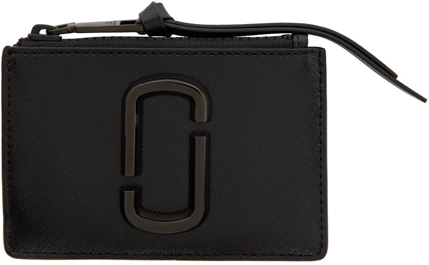 Black 'The Snapshot' Top-Zip Card Holder