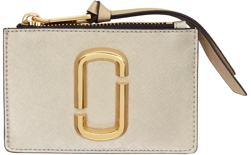 Silver & Gold 'The Snapshot' Top-Zip Card Holder