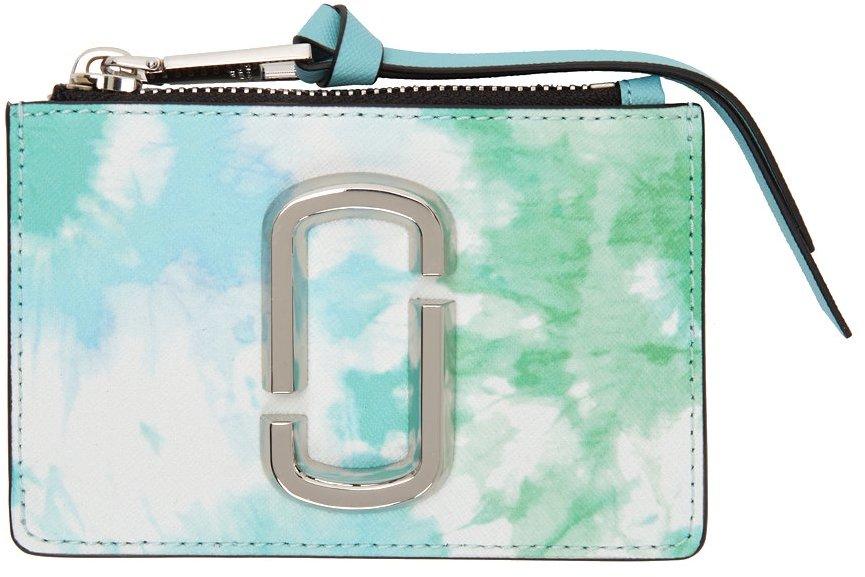Blue & Green 'The Tie-Dye Snapshot' Zip Card Holder