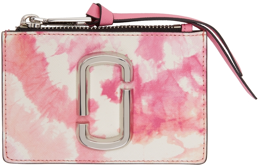 Pink & White Tie Dye 'The Snapshot' Top-Zip Card Holder
