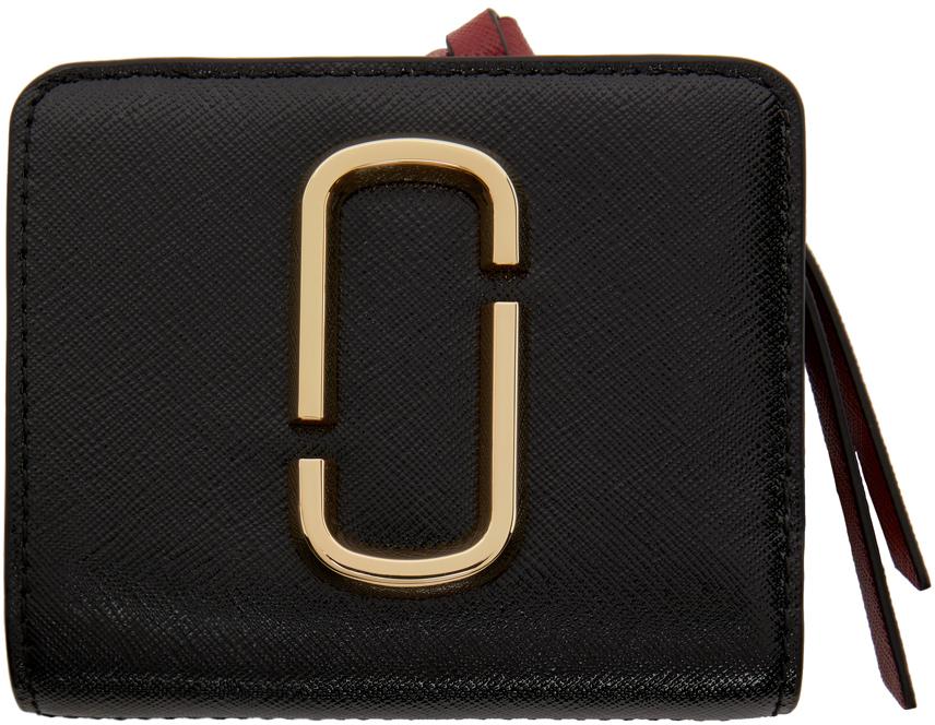 Black & Burgundy Mini 'The Snapshot Compact' Wallet