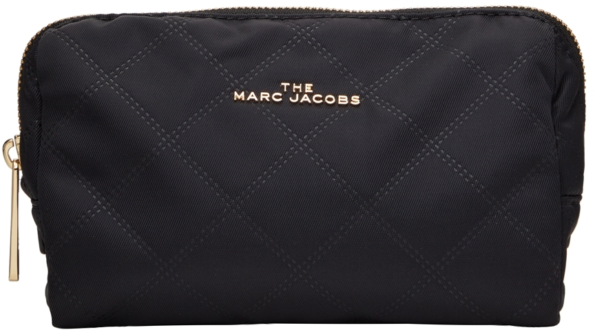 Black 'The Beauty Triangle' Pouch