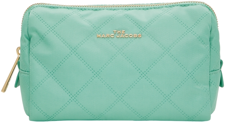 Green 'The Beauty Triangle' Pouch