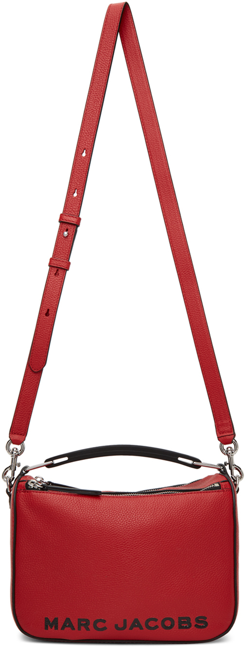 Red & Black 'The Softbox 23' Top Handle Bag