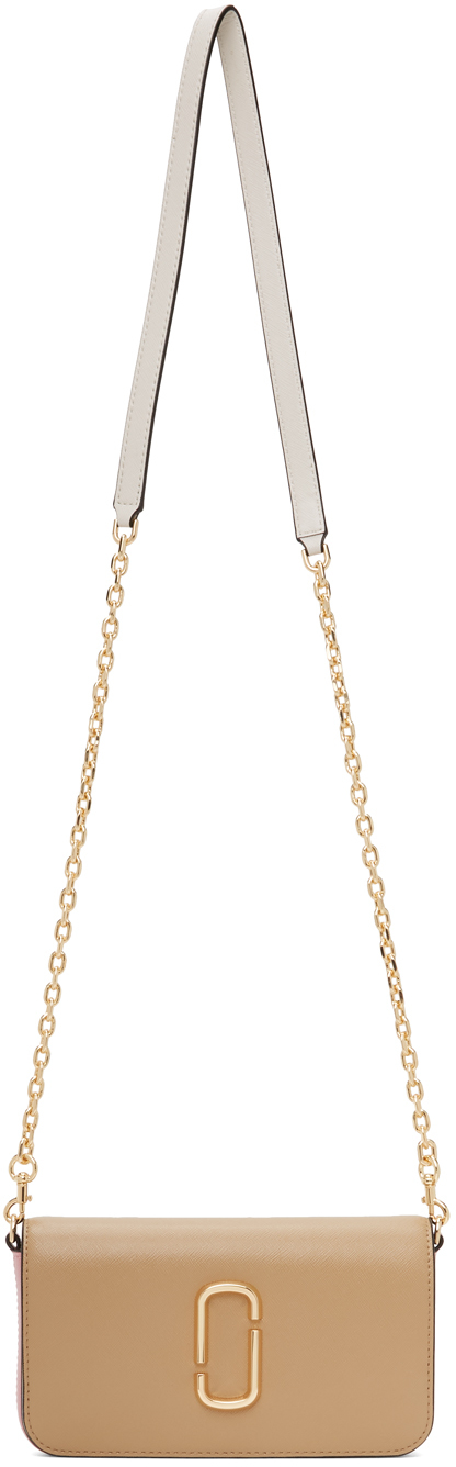 Beige & Pink 'The Snapshot' Wallet On Chain Bag